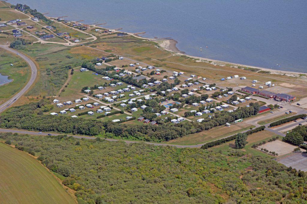 Luftfoto 28.07.14: Lemvig strandcamping ved Vinkelhage