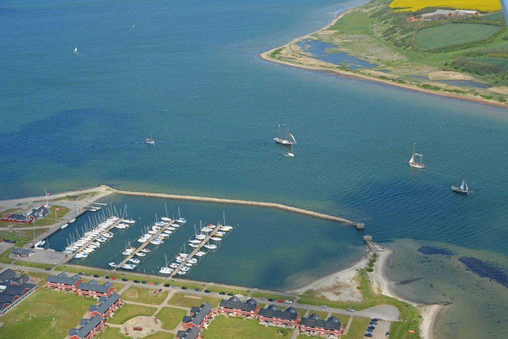 Luftfoto 23.05.15: gamle træskibe på Limfjorden ved Lemvig marina