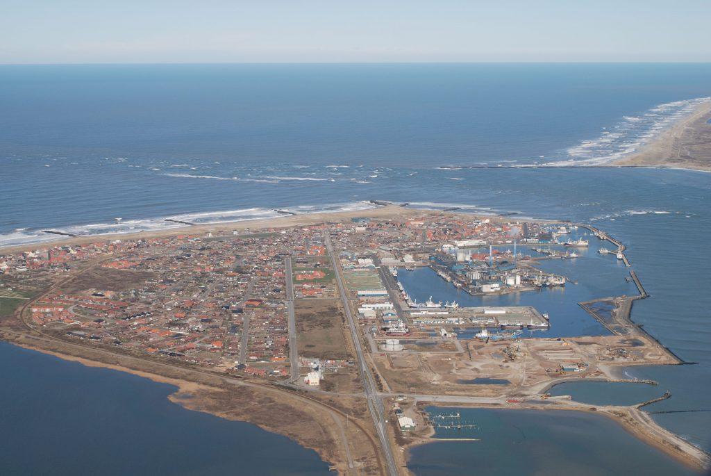Luftfoto 20.03.07: Thyborøn, Kanalen, Vesterhavet og Agger Tange
