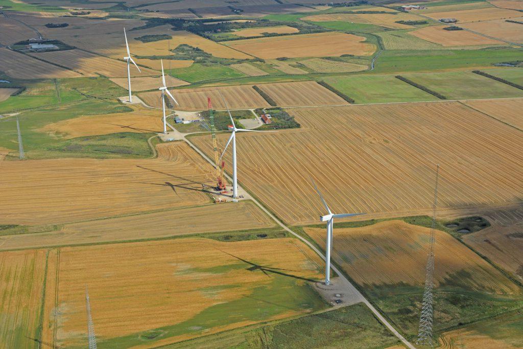 Høvsøre vindmølle testcenter, luftfoto 190816