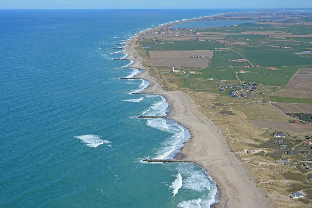 Luftfoto 26.04.17: vestkysten ved Fjaltring og Bovbjerg