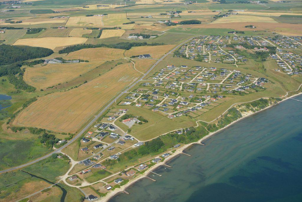 Luftfoto: Gjeller Odde sommerhusområde 16.07.18