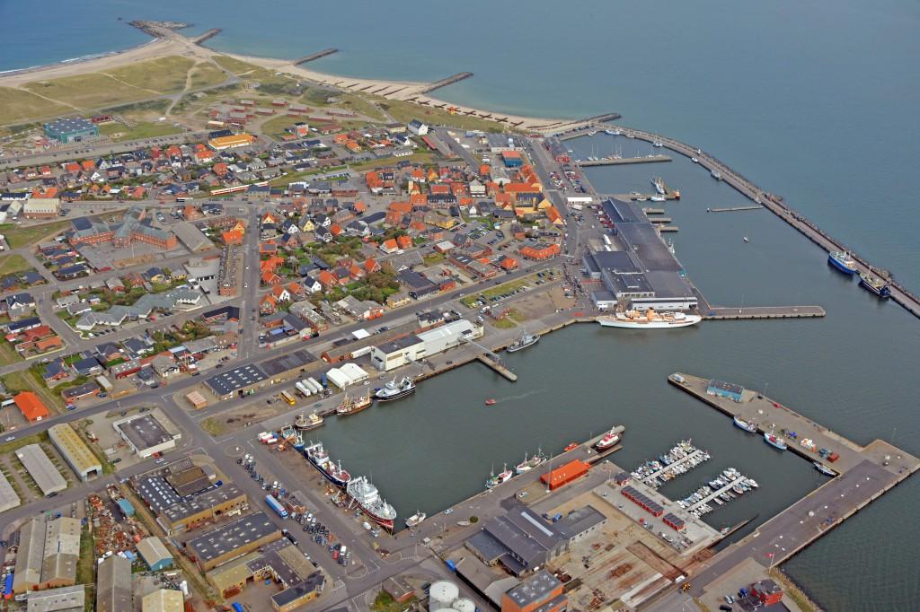 """01.09.2014: Royalt besøg, Thyborøn havn med """"Dannebrog"""""""