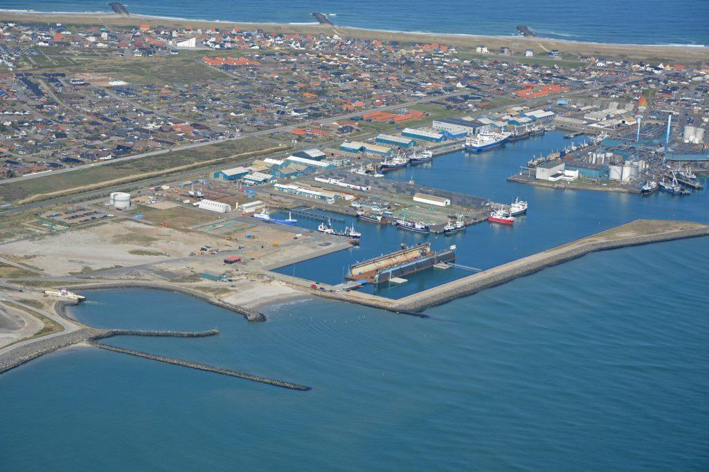 Luftfoto Thyborøn havn 04-05-16
