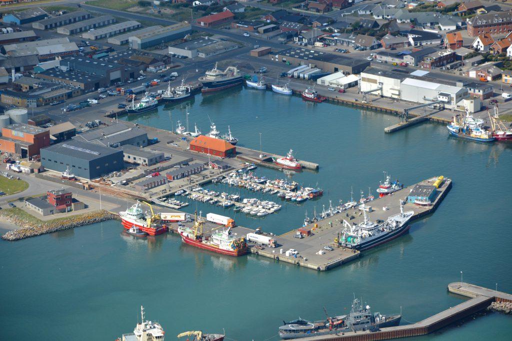 Thyborøn havn, luftfoto 19.08.16