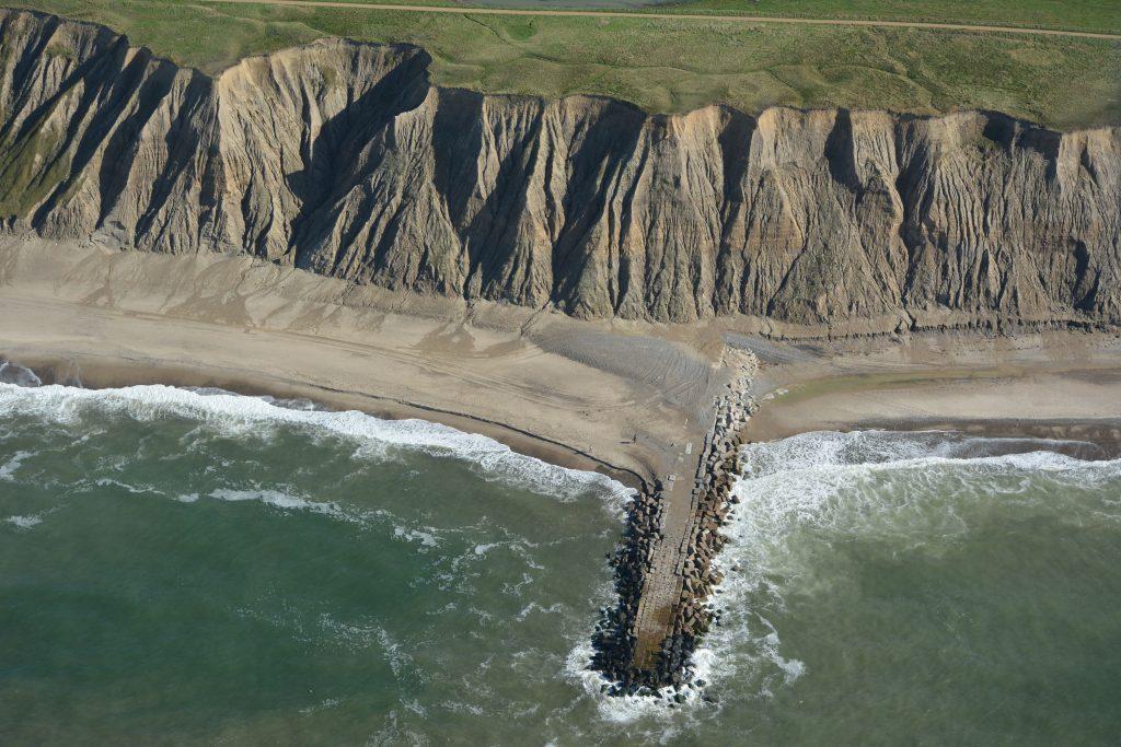26.09.16 luftfoto: høfde og klint ved Bovbjerg