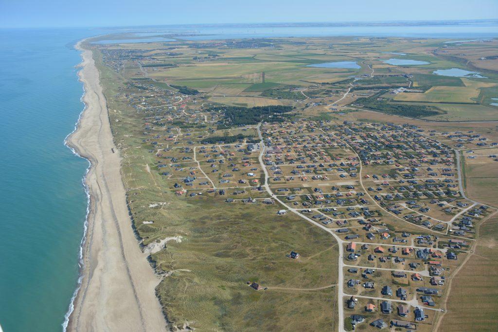 Luftfoto: Vejlby Klit ved Vesterhavet