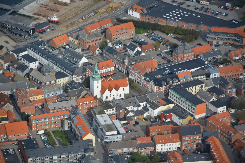 Lemvig Centrum, luftfoto