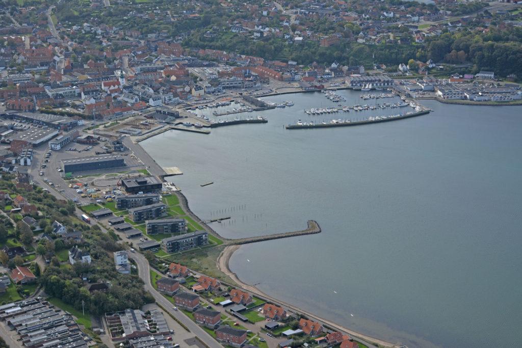 Luftfoto Lemvig havn og by 051020