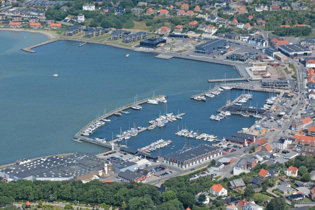 Luftfoto 190721 Lemvig havn